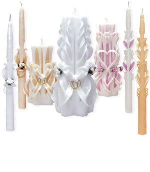 Резные свадебные свечи